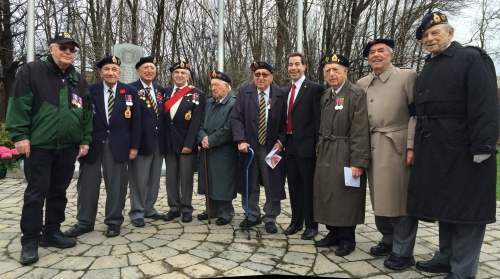 Members of the Royal Canadian Legion Branch 97 at the 2014 VE Day Commemoration