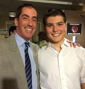 Councillor Mitchell Brownstein with actor Brandon Schwartz