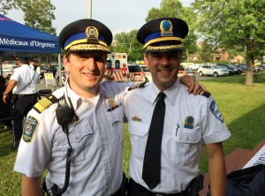 CSL Public Safety Director Jordy Reichson and Police Commander Marc Cournoyer make sure everything stays safe for residents and participants at Canada Day and throughout the year