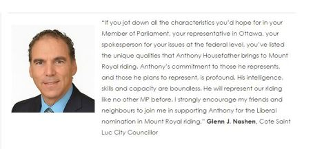 Anthony Housefather Liberal endorsement 2014