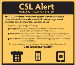 CSL alert mass notification