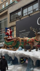 Santa Claus was perhaps the only one wishing all a Merry Christmas in English and French
