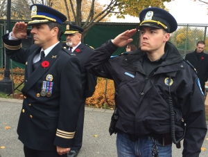 Police Commander Marc Cournoyer and Lt. Brian Cunningham
