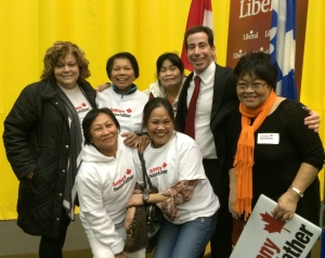 Filipino community leaders cheer Housefather success in Mount Royal