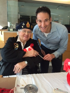 JGH and Legion volunteer known foe her annual poppy sale along with CTV News reporter Rob Lurie