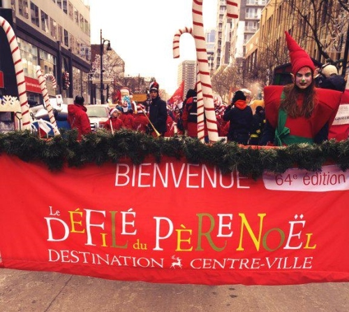 Montreal's Santa Clause Parade 2014 - A unilingual event