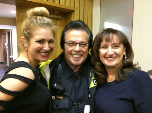 "EMS volunteer Joy Rodgers thanked vCOP for lending a helping hand during emergencies. Seen here with renowned Public Security Agent Johnny ""Elvis"" Champagne and Cllr. Ruth Kovac."