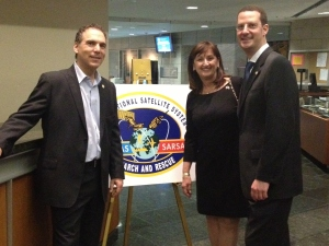 Glenn J. Nashen, Ruth Kovac and Howard Liebman at the International Civil Aviation Organization in Montreal