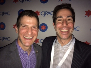 Conservative stalwart Robert Presser all smiles with Liberal friend Anthony Housefather