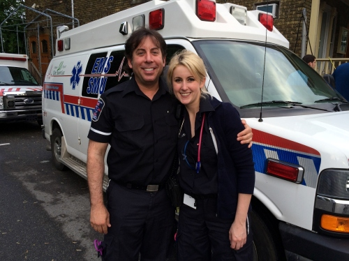 Lawyers and First Responders, Michael Glazer and Alexandra Myette.