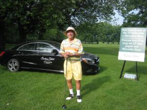 Not even a veteran golfer like George Nashen was able to snatch the top prize Mercedez... this year.
