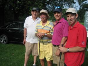 Quite the foursome: Sam Goldbloom, George and Glenn J. Nashen and Mike Cohen