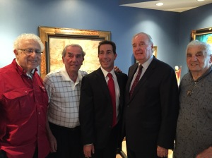 Anthony Housefather and Paul Martin with CSL seniors Ron Rush, George Nashen and 101 year old Mr. Fishman