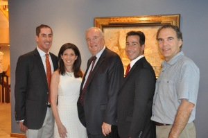 Mitch & Elaine Brownstein, Anthony Housefather and Glenn J. Nashen welcoming fmr. PM Paul Martin to Cote Saint-Luc on July 14, 2015