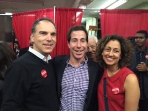 Glenn J. Nashen and Judy Hagshi greeting new MP Anthony Housefather
