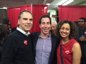 Glenn J. Nashen and Judy Hagshi greeting new MP Anthony Housefather