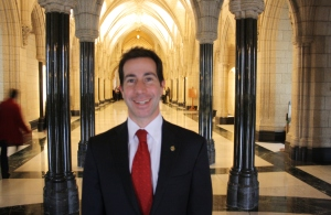 Anthony Housefather, MP, in the Hall of Honour, in the Parliament of Canada