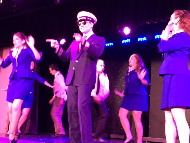 The ever talented crooner Brandon Schwartz plays Frank Abignail Jr. in Catch Me If You Can