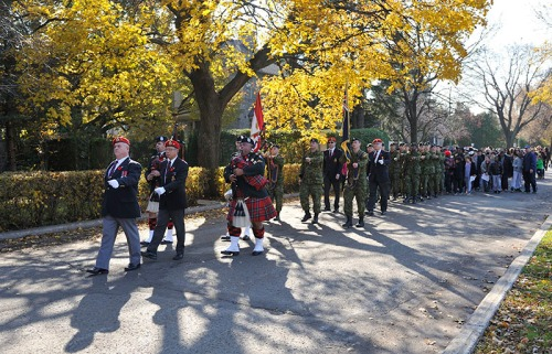 Remembrance Day parade of students in Hampstead on November 5, 2015 (Photo: Denis Beaumont)