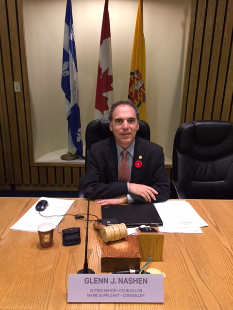My first public council meeting as Acting mayor of Cote Saint-Luc, November 9, 2015