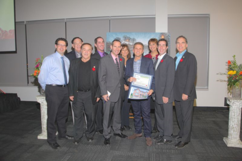 City Council congratuklates the Maisons Fleuries contest winners at the ACC