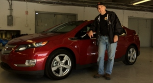 Test driving the Chevrolet Volt at the 2015 Montreal Electric Car Show