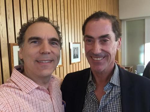 First selfie: Cllr. Glenn J. Nashen with newly elected Mayor Mitchell Brownstein