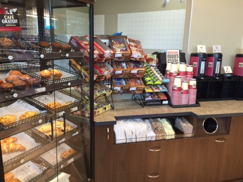 Fresh baked Kosher muffins and pastry and gourmet coffee