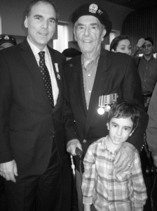 Three generations of CSLers: Cllr. Glenn J. Nashen, RCAF Veteran George Nashen and Jeremy Nashen