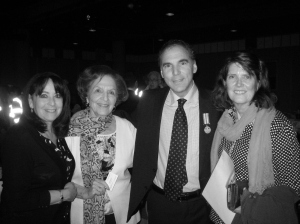 Celebrating US relations: NY born Franci Nashen, Cambridge, Mass. born Phyllis Nashen, Cllr. Glenn J. Nashen and US Consul Mary Eileen Earl