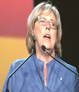 Green Party of Canada Leader Elizabeth May addresses the FCM 2016