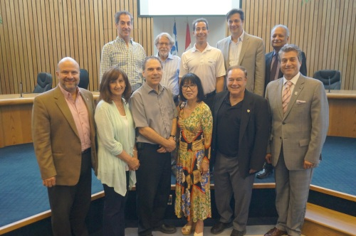 Anthony Housefather's first summit of elected officials at Cote Saint-Luc City Hall, July 13, 2016