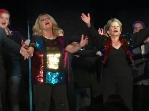 Hannah Scheffren (left) and Judy Kenigsberg, and all the jazz