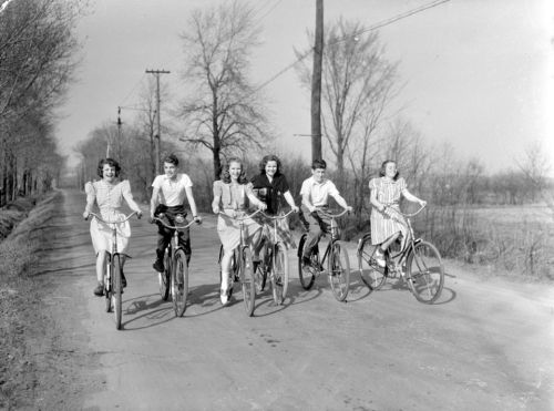Cycling in Cote Saint-Luc in the 1950s
