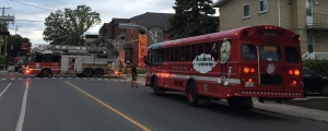 Evacuated residents take shelter in Montreal Fire Department bus