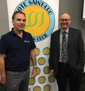 Glenn J. Nashen and Dr. Paul Warshawsky at JGH Mini-Med School 2016