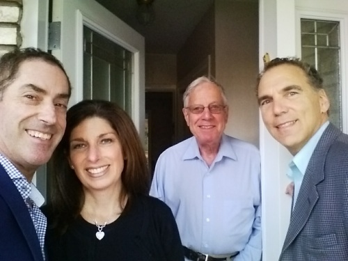 Mayor Mitchell and Elaine Brownstein join me in knocking on the door of the Bessners on Melling Ave.