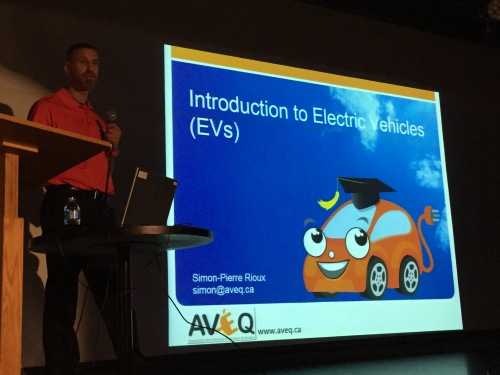 Simon-Pierre Rioux at CSL Public Library talk on Electric Vehicles