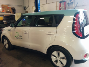 CSL Public Works took delivery of its first electric vehicle, a Kia Soul, mid-November 2016 (Photo: Bebe Newman)