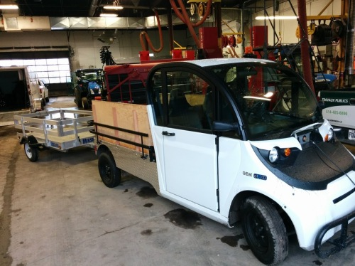 Polaris electric vehicle makes demo debut at CSL Public Works in November 2016