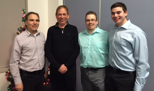 Cllr. Glenn J. Nashen with the Luden Men: Proud Public Security Agent Irwin Luden and EMS sons Brandon and Jordan.