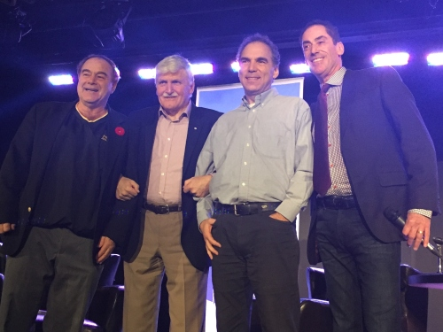 Cllr. Allan J. Levine, General Romeo Dallaire, Cllr. Glenn J. Nashen, Mayor Mitchell Brownstein