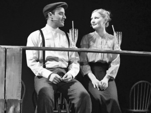 Ben Warner and Tori Gazin as young and in love, Our Town, Jan. 2017