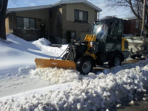 Cote Saint-Luc's newest snow plow blazing a clear path on this sunny Wednesday afternoon